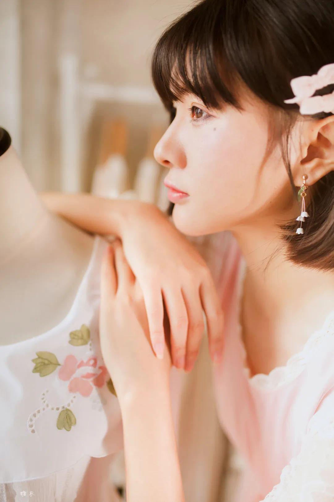 妹子摄影 – 粉色连衣裙姐妹花,双倍快乐_图片 No.5