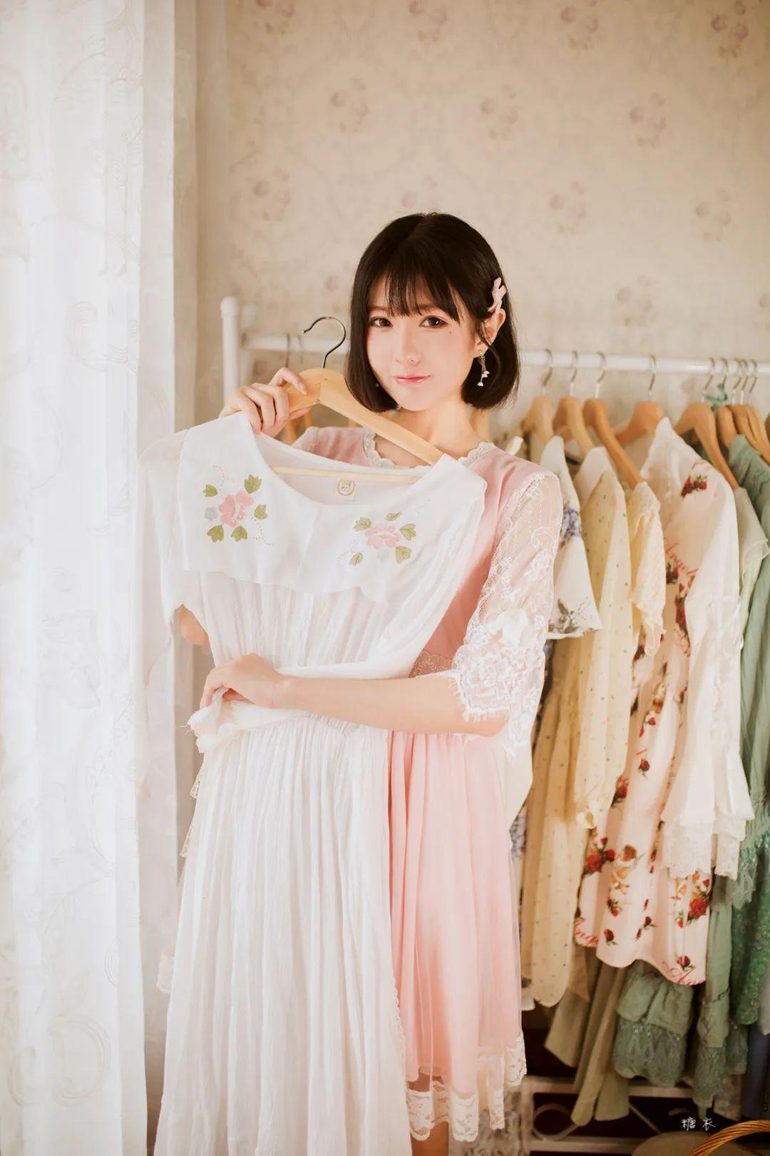 妹子摄影 – 粉色连衣裙姐妹花,双倍快乐_图片 No.9