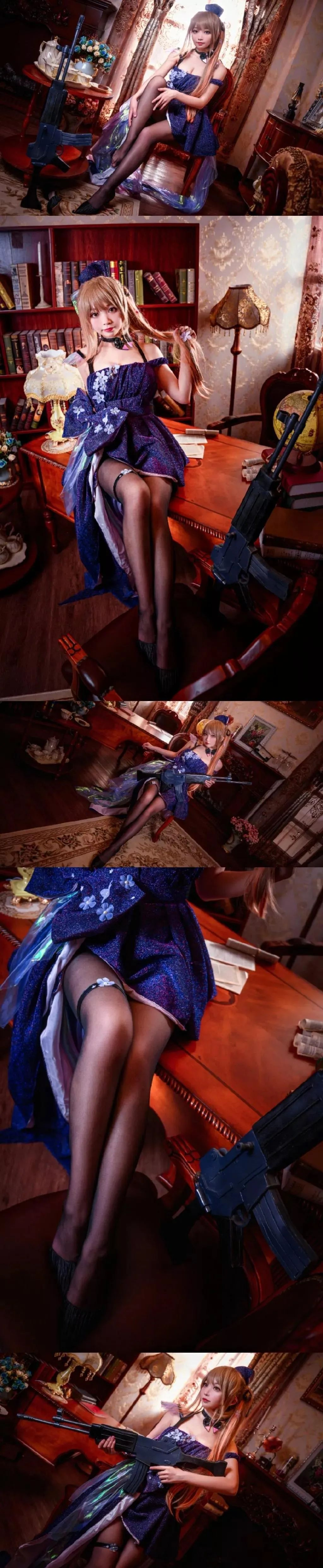 Cosplay—少女前线 K2,又是一双适合舔骨折的黑丝美腿_图片 No.1