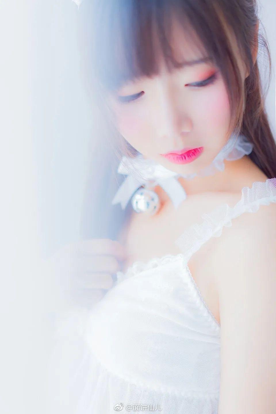妹子摄影 – 超甜美白丝女孩婚纱写真_图片 No.6