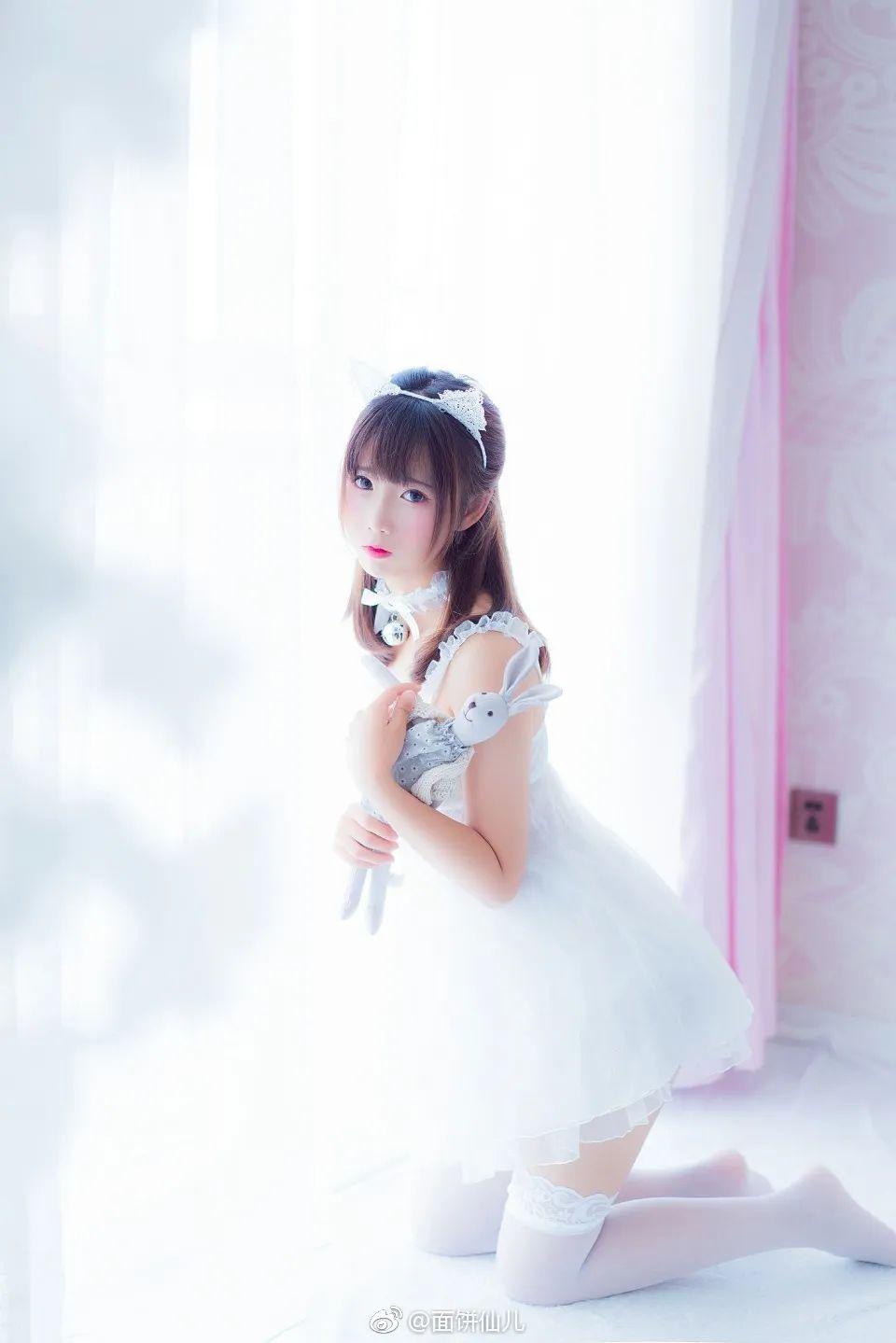 妹子摄影 – 超甜美白丝女孩婚纱写真_图片 No.8