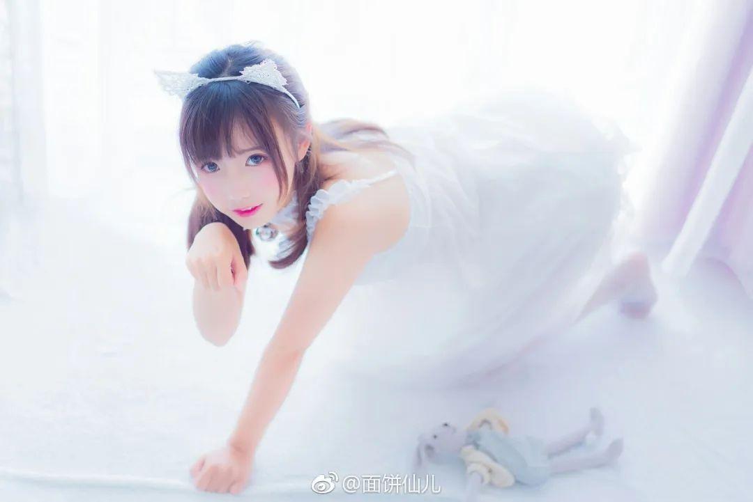 妹子摄影 – 超甜美白丝女孩婚纱写真_图片 No.9