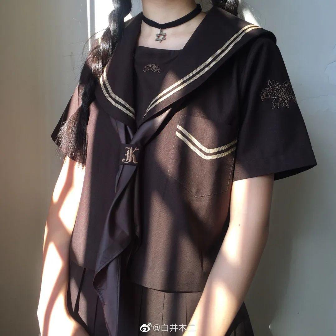 妹子摄影 – 黑色JK制服小裙子的梨涡少女@白井木二_图片 No.5