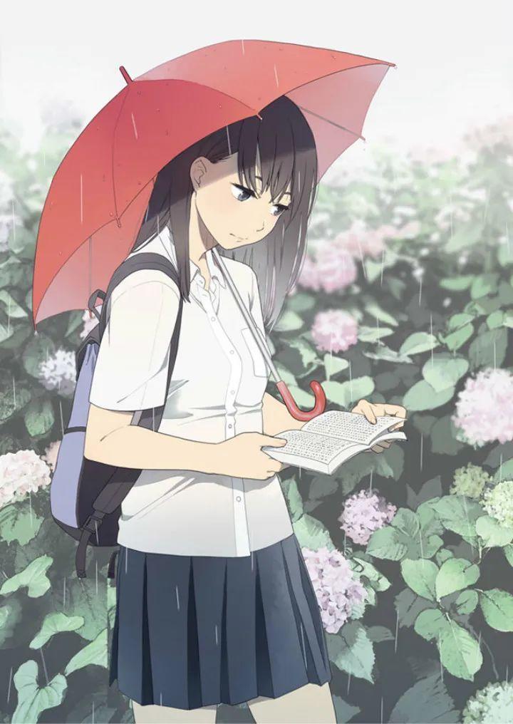 P站动漫美图推荐——少女与梅雨 特辑_图片 No.14
