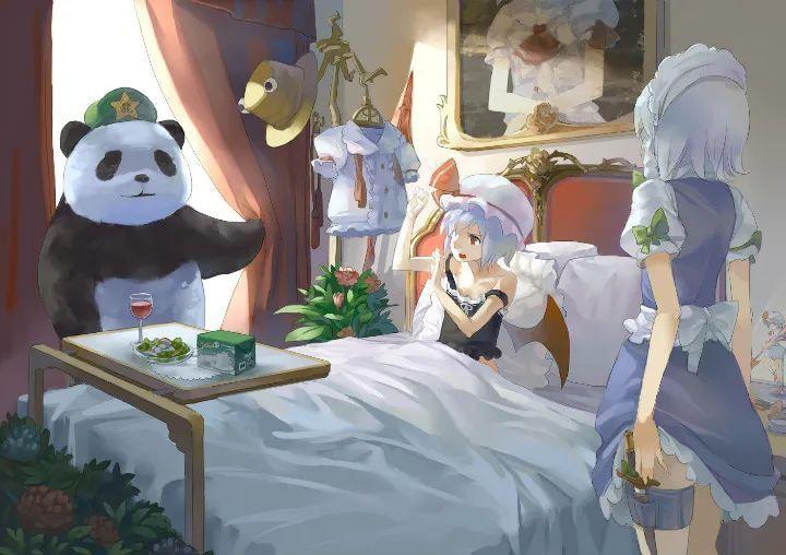 P站美图推荐——少女与熊猫 特辑_图片 No.1