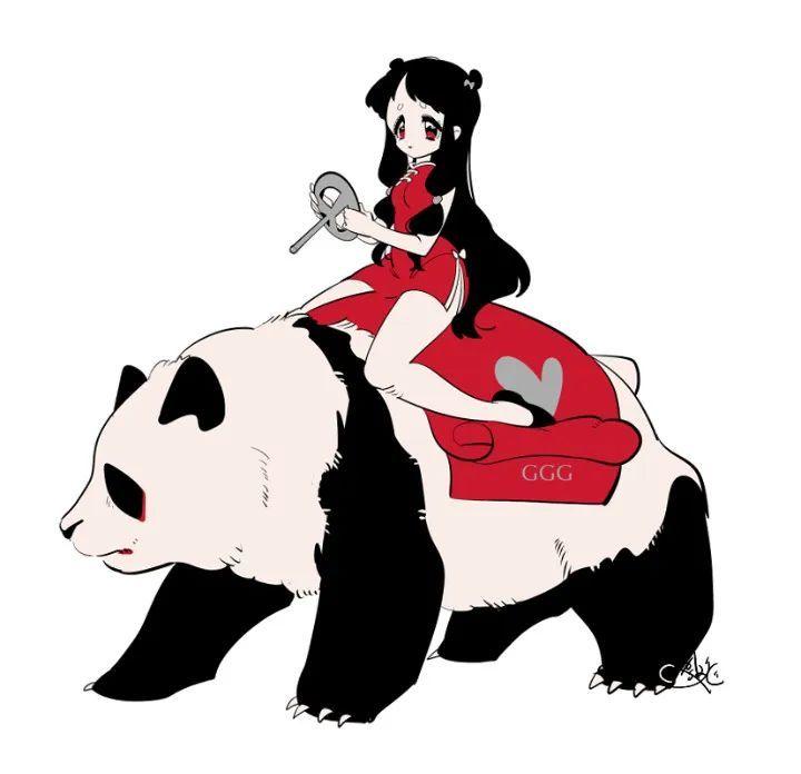P站美图推荐——少女与熊猫 特辑_图片 No.4