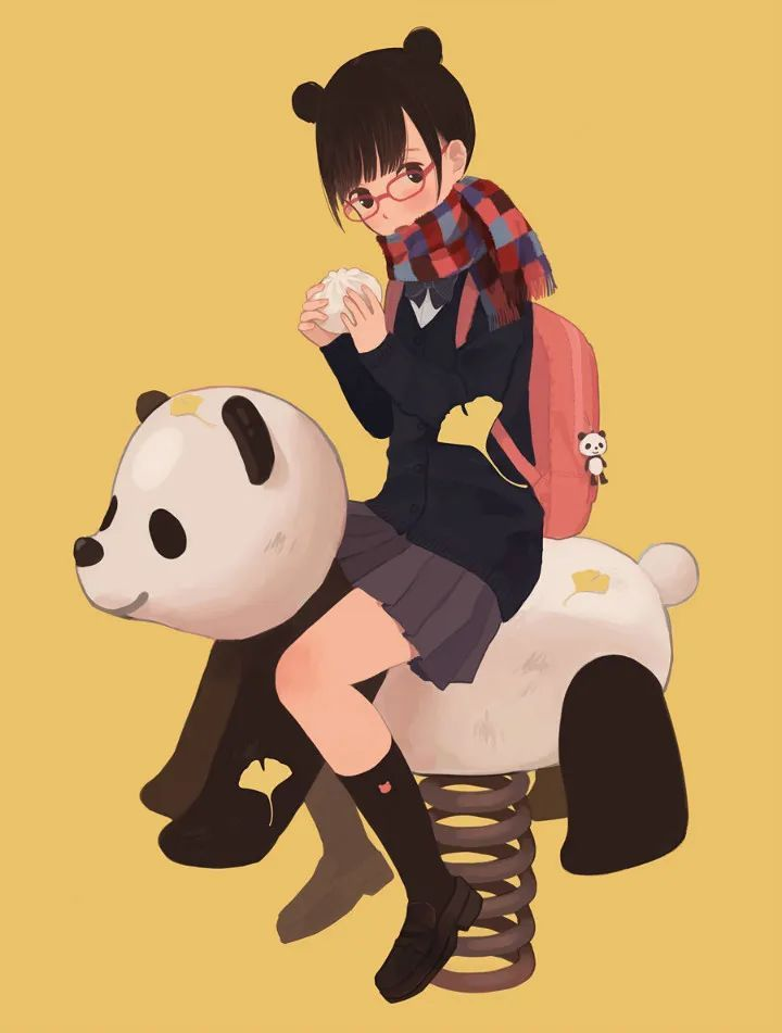 P站美图推荐——少女与熊猫 特辑_图片 No.10
