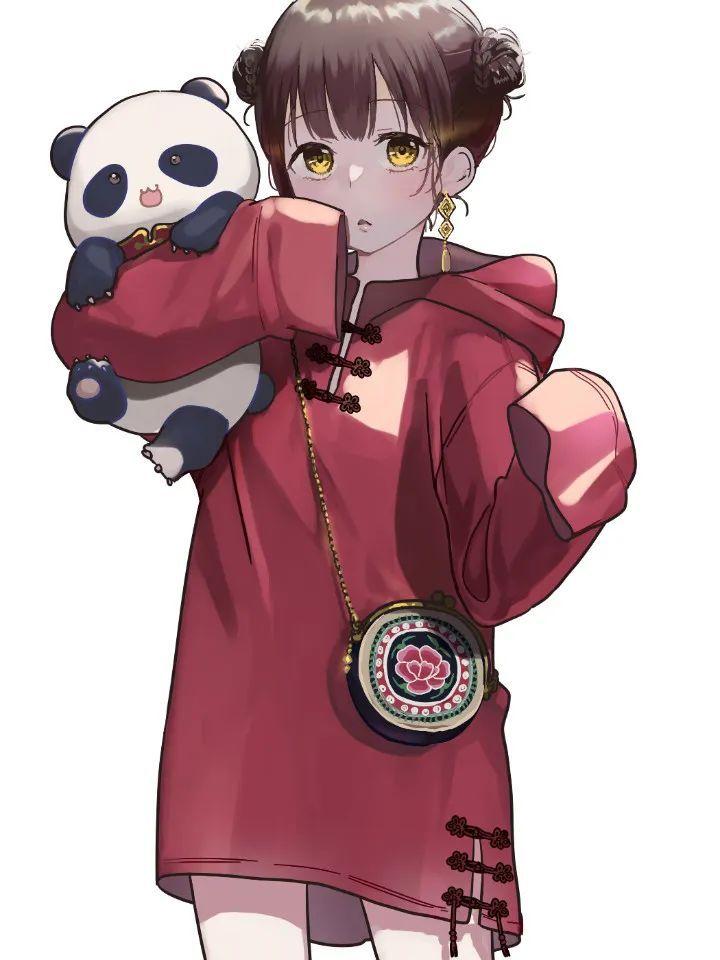 P站美图推荐——少女与熊猫 特辑_图片 No.18