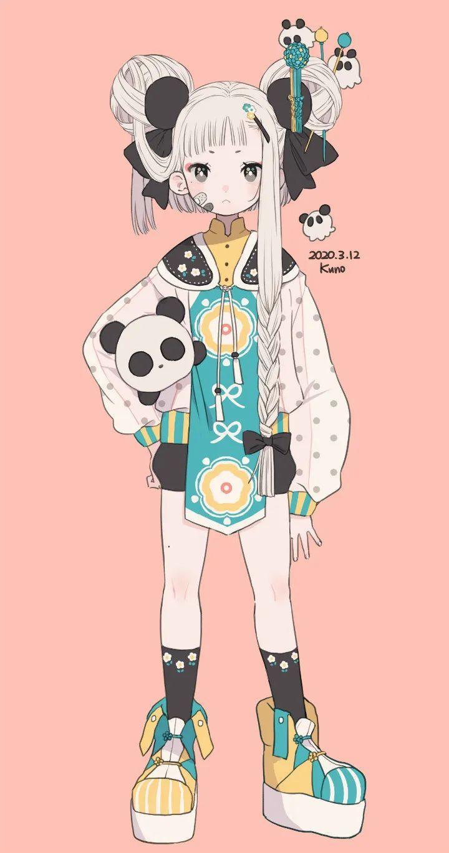 P站美图推荐——少女与熊猫 特辑_图片 No.21