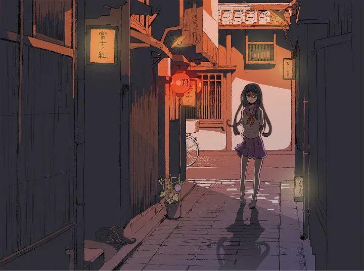 P站美图推荐——小巷里的美少女 特辑_图片 No.1