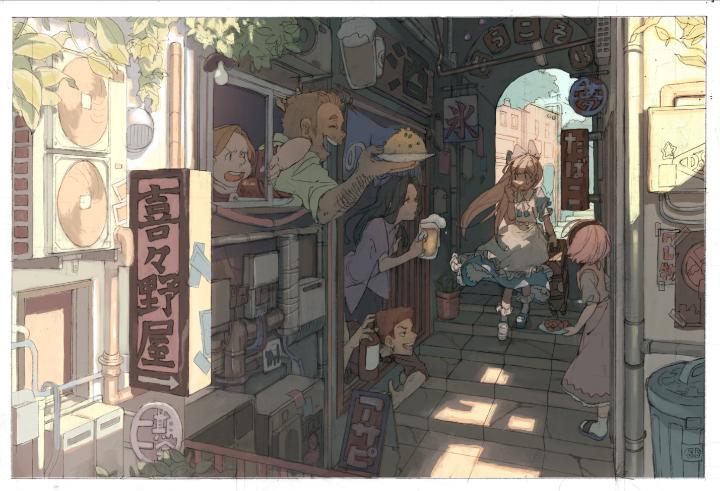 P站美图推荐——小巷里的美少女 特辑_图片 No.3