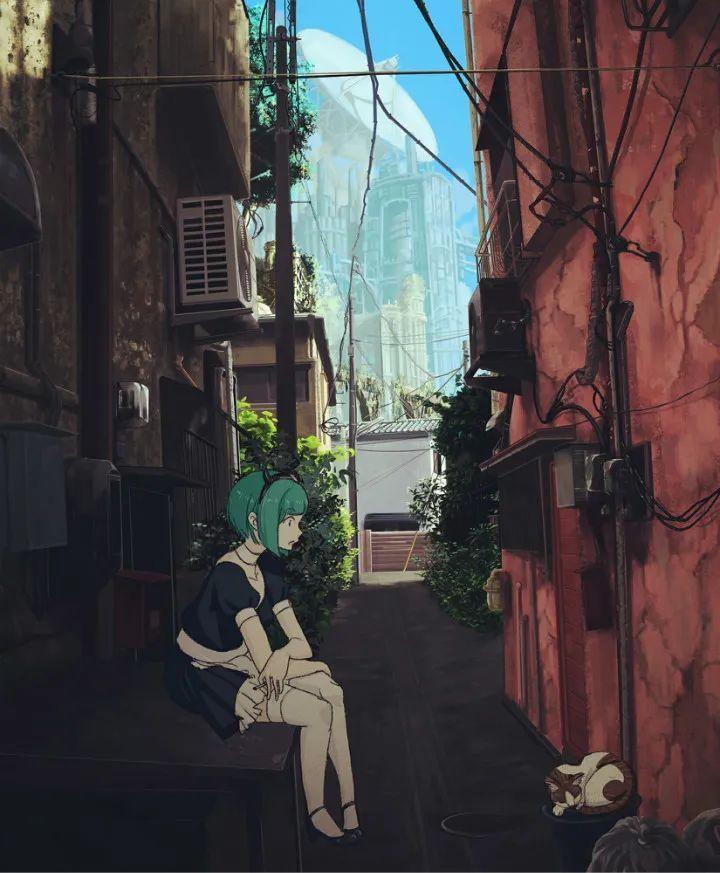 P站美图推荐——小巷里的美少女 特辑_图片 No.12