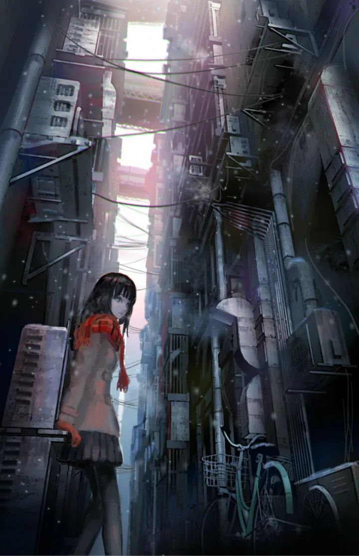 P站美图推荐——小巷里的美少女 特辑_图片 No.17