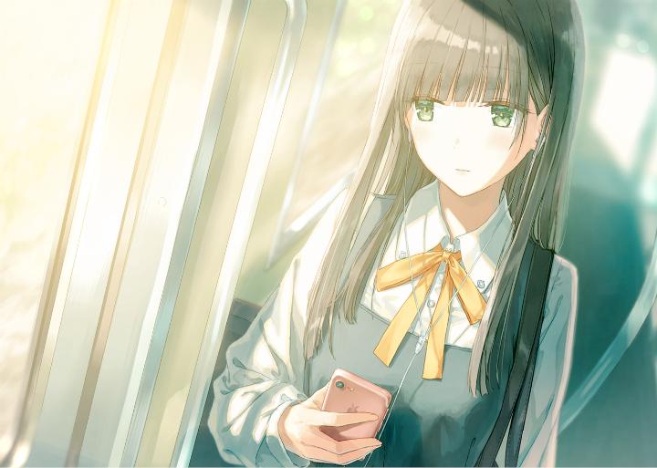P站美图推荐——车窗旁的美少女 特辑_图片 No.9