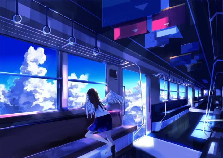 P站美图推荐——车窗旁的美少女 特辑_图片 No.10