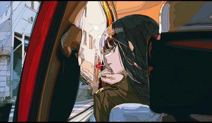 P站美图推荐——车窗旁的美少女 特辑_图片 No.11