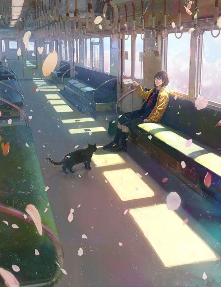 P站美图推荐——车窗旁的美少女 特辑_图片 No.19