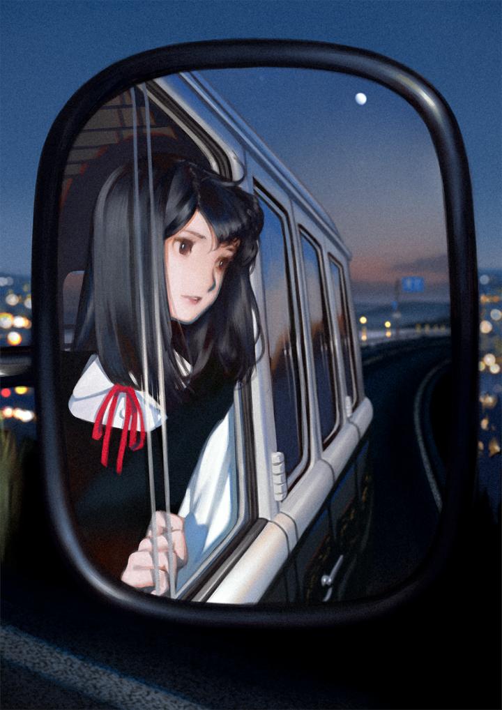 P站美图推荐——车窗旁的美少女 特辑_图片 No.23