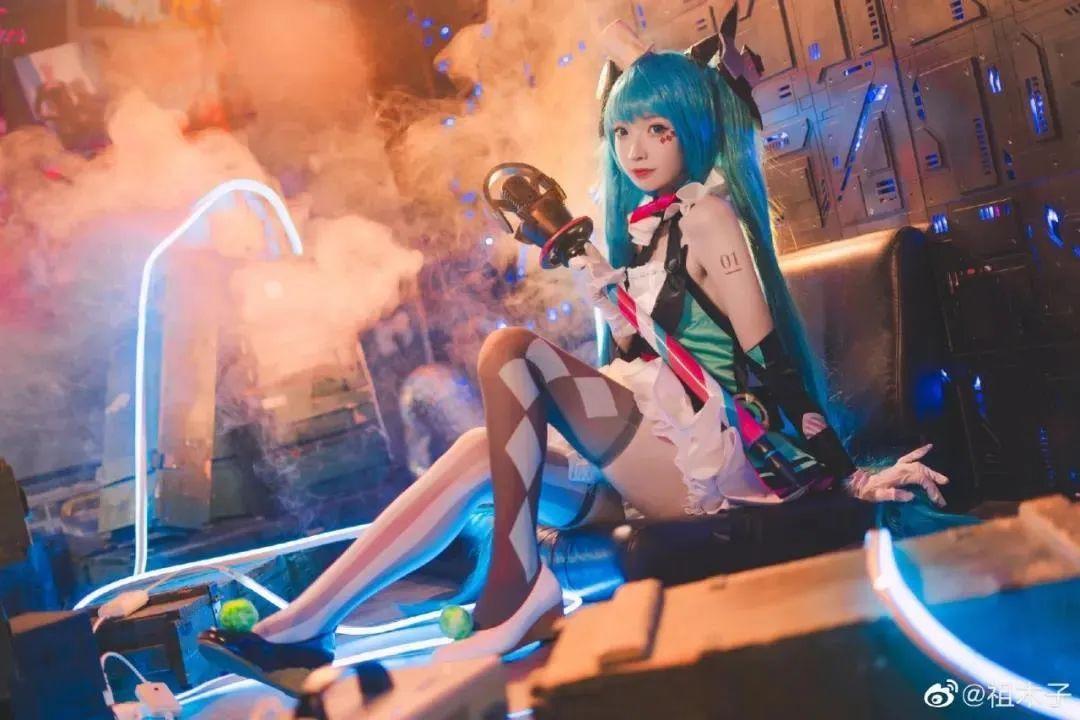 Cosplay- VOCALOID 初音未来(@祖木子),小姐姐颜值超高_图片 No.3