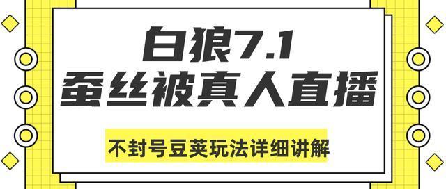 白狼敢死队7月1号最新抖音课程:蚕丝被真人直播不封号豆荚(dou+)玩法详细讲解 配图