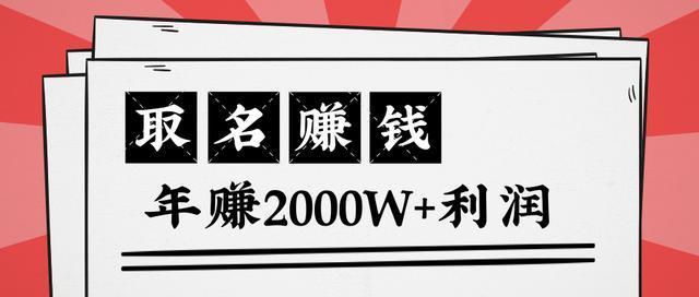 小领域小项目的逆袭!靠取名快速赚钱,年赚2000W+的套路拆解(王通)【视频教程】 配图