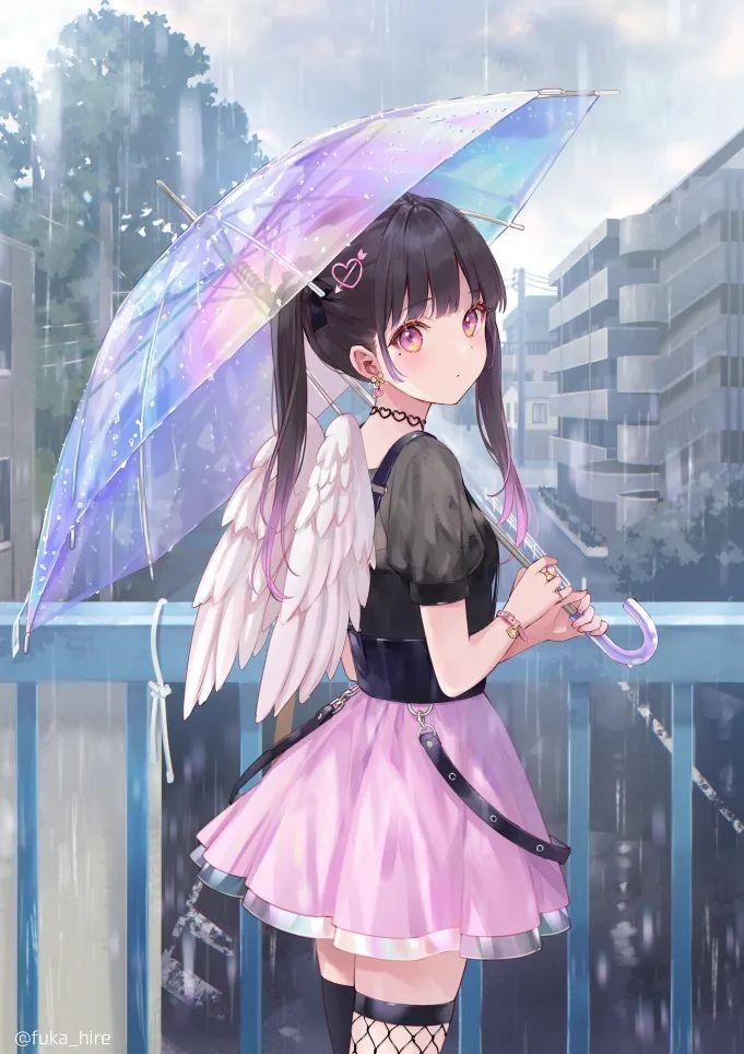 每日动漫美图 547期,粉裙子撑伞的小萝莉,我好了_图片 No.4