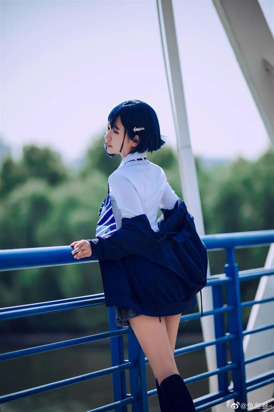 Cosplay-《darlinginthefranxx》莓(015)@鱼叁叁-,jk制服真耐看_图片 No.7