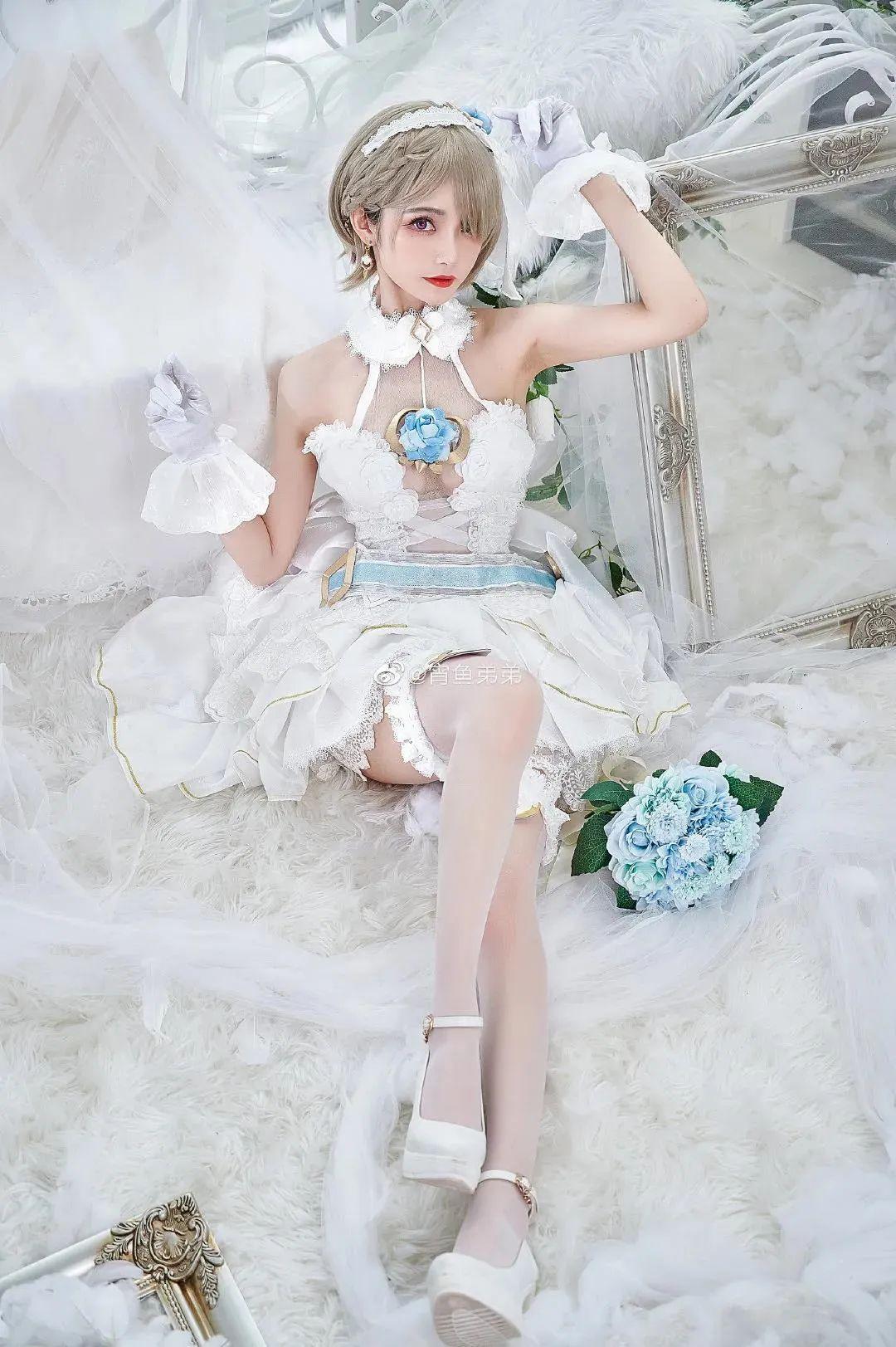 Cosplay-《崩坏3》丽塔(@宵鱼弟弟),这花嫁也太美了吧_图片 No.5