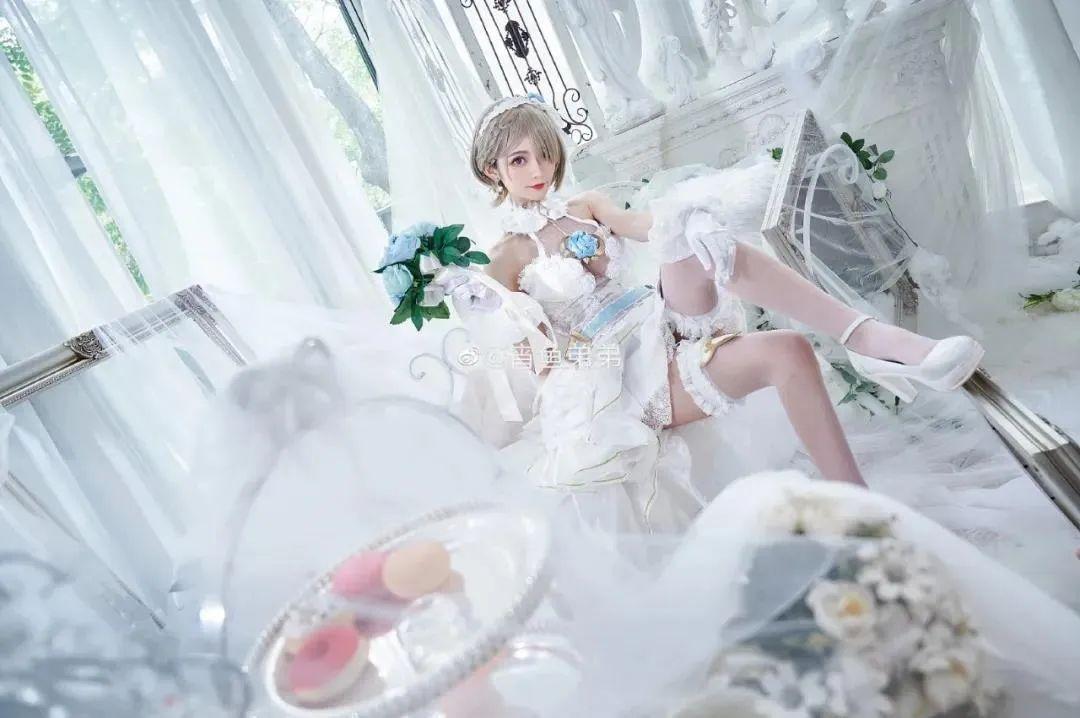 Cosplay-《崩坏3》丽塔(@宵鱼弟弟),这花嫁也太美了吧_图片 No.8