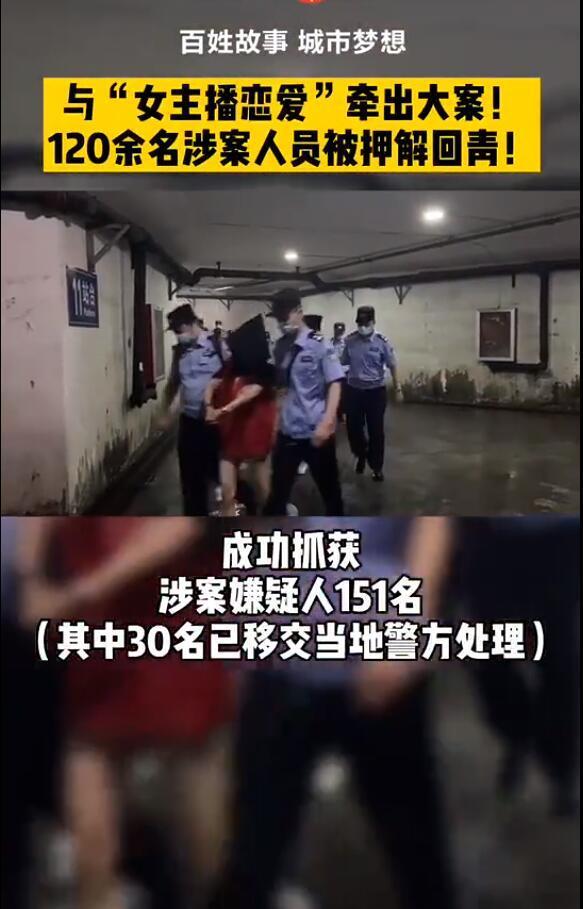 """121名美女主播被押解回青岛 伪装""""女主播恋爱""""骗钱的团伙落网 网络热点 第3张"""