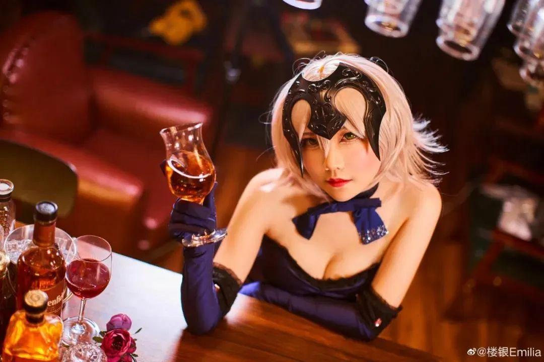 Cosplay-《Fate/Grand Order》黑贞,酒吧这氛围太让人把持不住了_图片 No.2