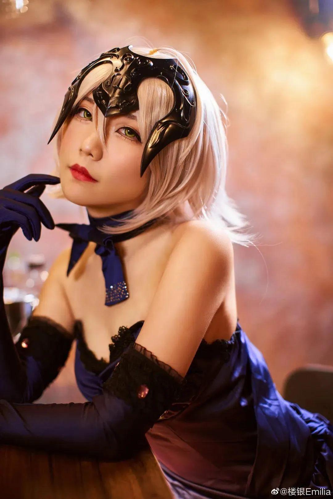 Cosplay-《Fate/Grand Order》黑贞,酒吧这氛围太让人把持不住了_图片 No.3