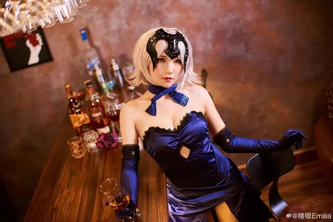Cosplay-《Fate/Grand Order》黑贞,酒吧这氛围太让人把持不住了_图片 No.4