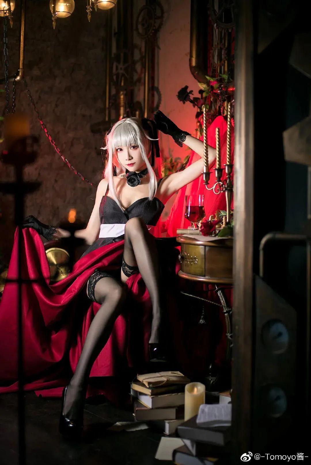 Cosplay – 《美少女万华镜》雾枝,黑丝袜长腿太适合舔了_图片 No.3