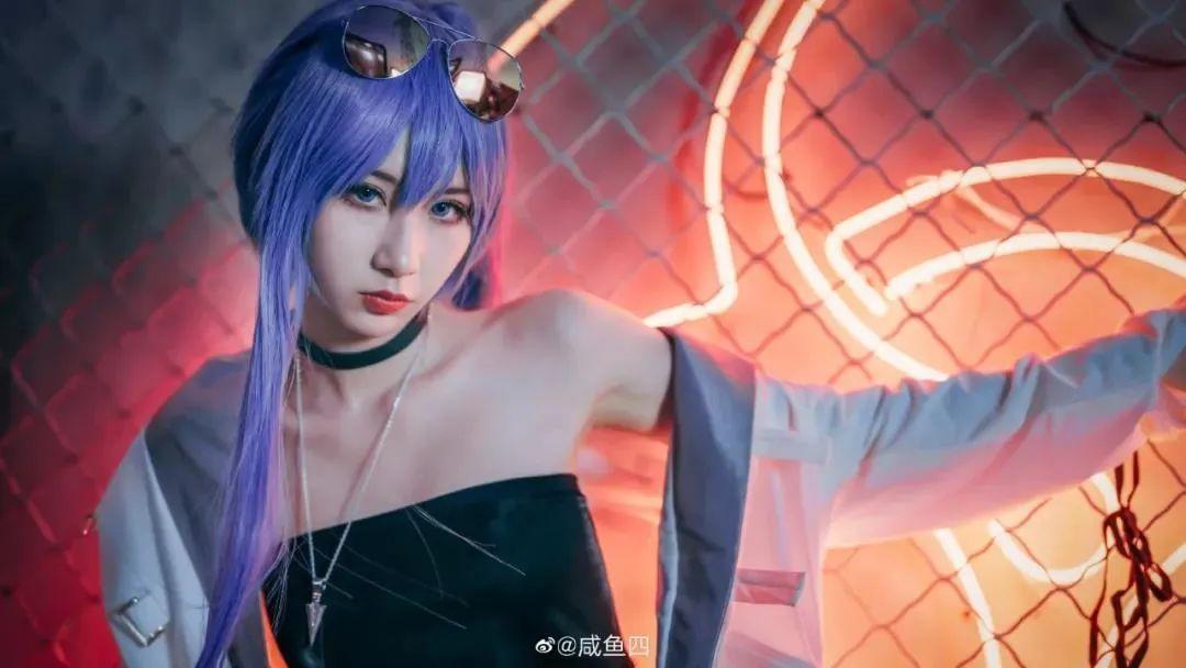 Cosplay-《Fate/Grand Order》梅尔特莉莉丝,白丝牛仔短裤御姐我爱了_图片 No.8