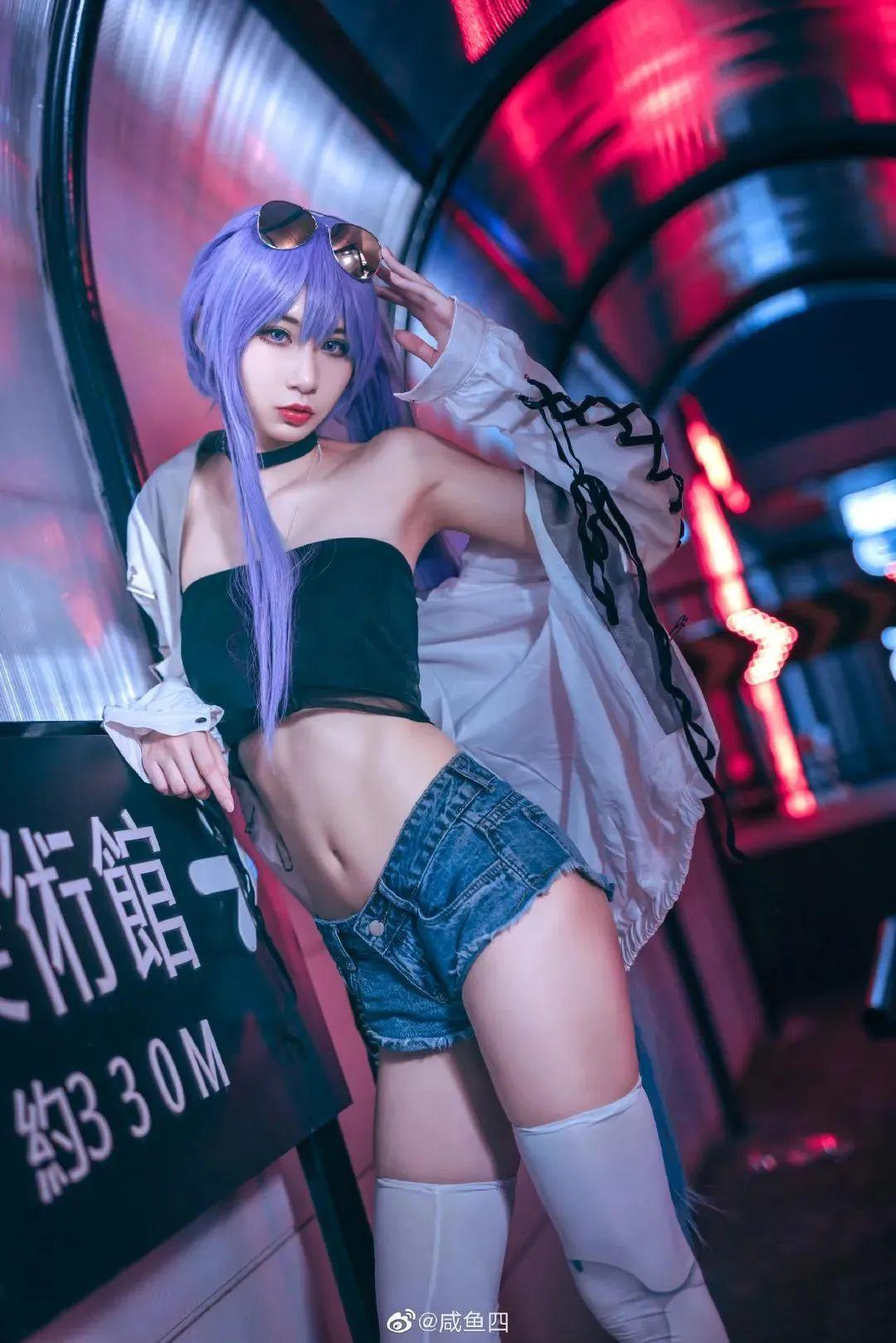Cosplay-《Fate/Grand Order》梅尔特莉莉丝,白丝牛仔短裤御姐我爱了_图片 No.9