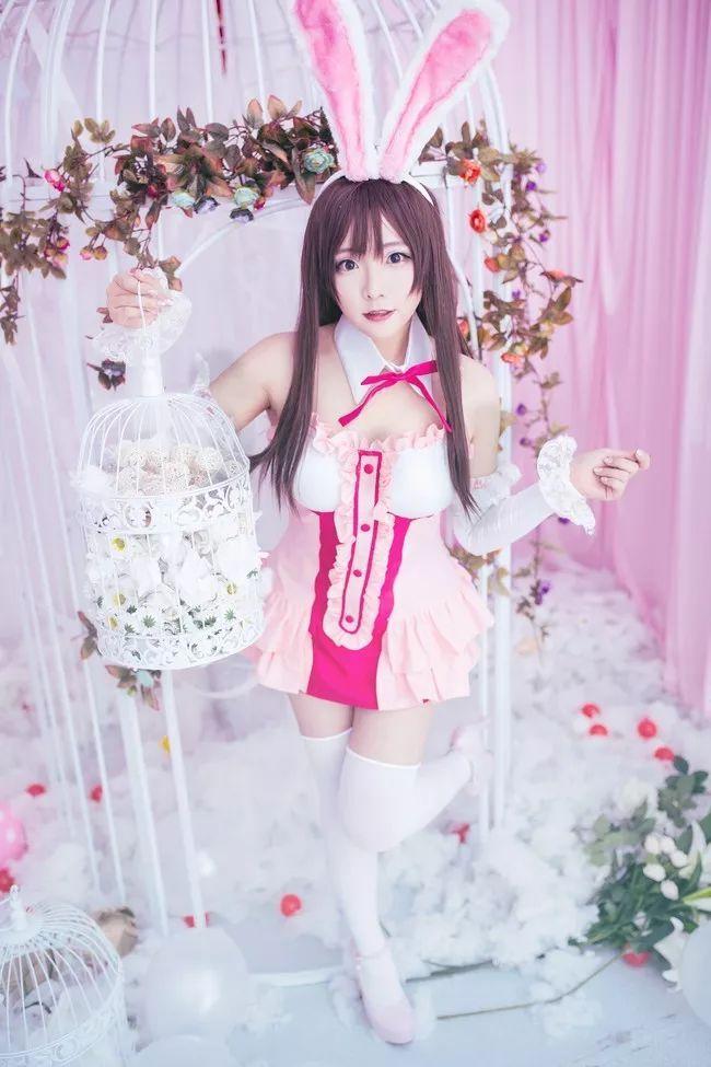 cosplay – 绊爱酱 cn:一色_Sena,兔耳朵太有灵性了_图片 No.1