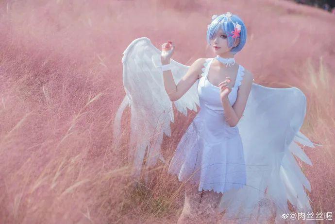 [蕾姆cosplay]如果真爱有颜色 那一定是蓝色,长翅膀的蕾姆(@肉丝丝喔)也是如此美哟 - [leimu486.com] No.2