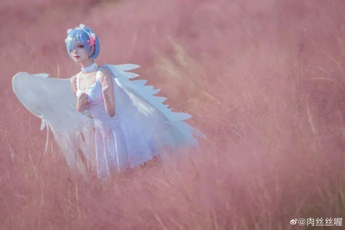 [蕾姆cosplay]如果真爱有颜色 那一定是蓝色,长翅膀的蕾姆(@肉丝丝喔)也是如此美哟 - [leimu486.com] No.3