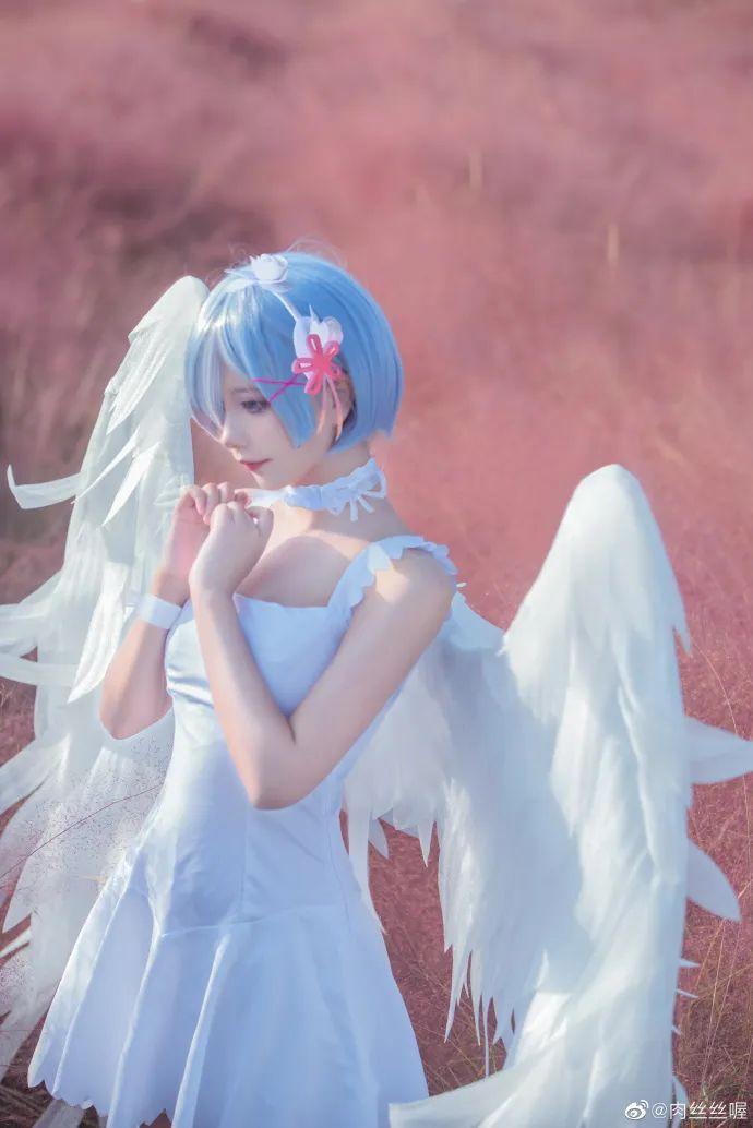 [蕾姆cosplay]如果真爱有颜色 那一定是蓝色,长翅膀的蕾姆(@肉丝丝喔)也是如此美哟 - [leimu486.com] No.4