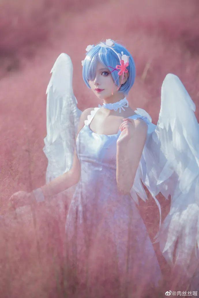 [蕾姆cosplay]如果真爱有颜色 那一定是蓝色,长翅膀的蕾姆(@肉丝丝喔)也是如此美哟 - [leimu486.com] No.6