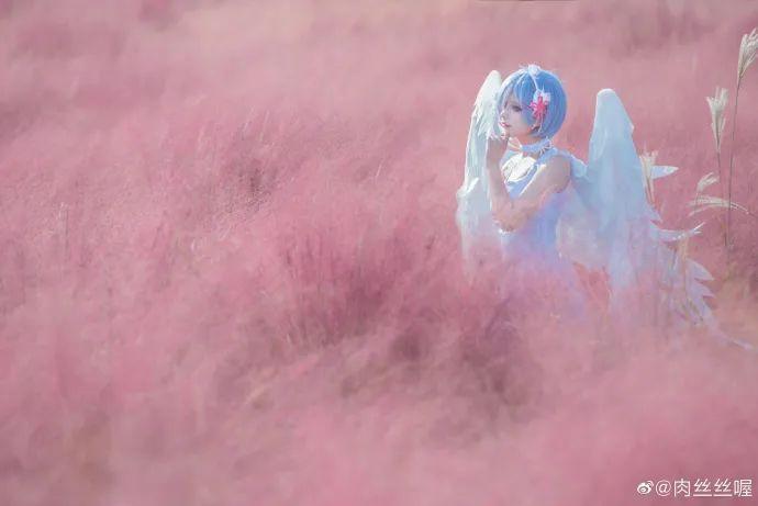 [蕾姆cosplay]如果真爱有颜色 那一定是蓝色,长翅膀的蕾姆(@肉丝丝喔)也是如此美哟 - [leimu486.com] No.7