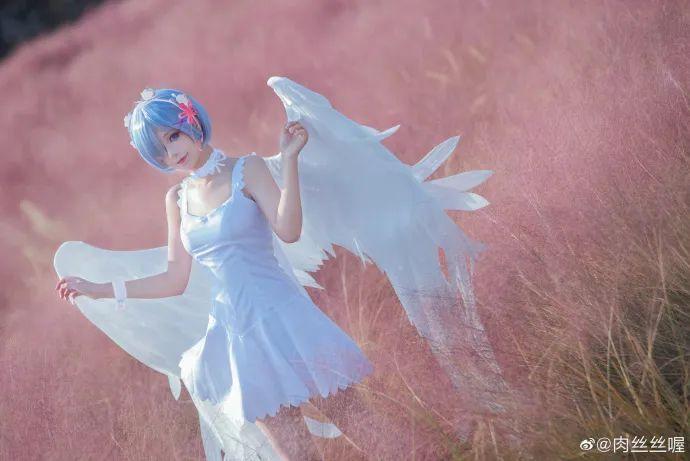 [蕾姆cosplay]如果真爱有颜色 那一定是蓝色,长翅膀的蕾姆(@肉丝丝喔)也是如此美哟 - [leimu486.com] No.8