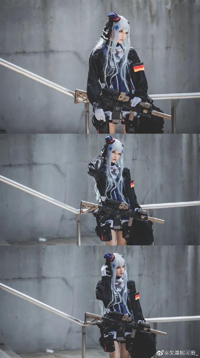 Cosplay – 《少女前线》HK416(@小崎二号机x),好腿好诱人的绝对领域_图片 No.1