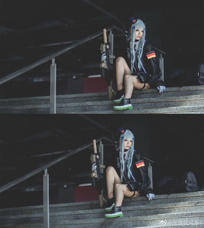 Cosplay – 《少女前线》HK416(@小崎二号机x),好腿好诱人的绝对领域_图片 No.8