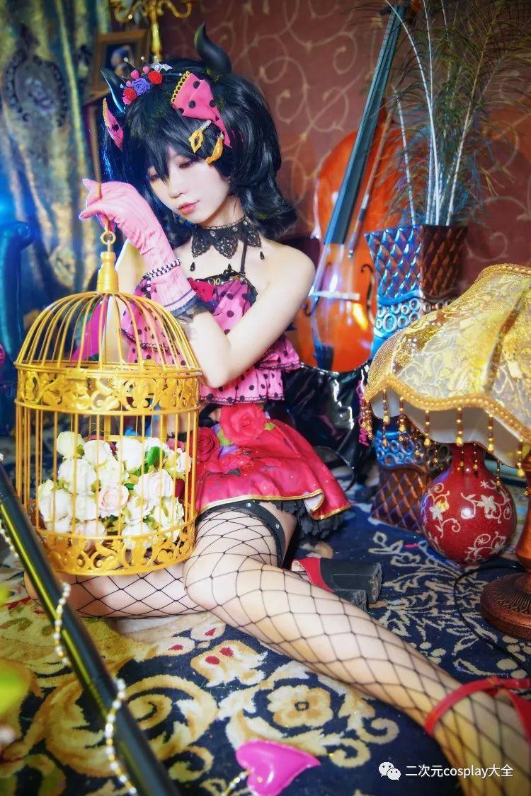 cosplay – 《lovelive!》小恶魔觉醒矢泽妮可,第一秒以为是可爱,然而被网格黑丝所吸引 - [leimu486.com] No.1