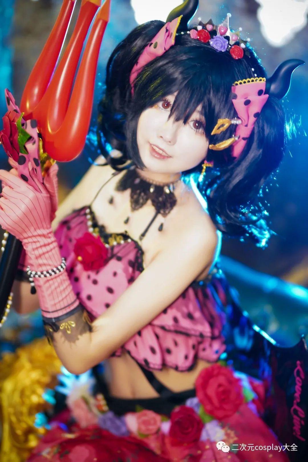 cosplay – 《lovelive!》小恶魔觉醒矢泽妮可,第一秒以为是可爱,然而被网格黑丝所吸引 - [leimu486.com] No.4