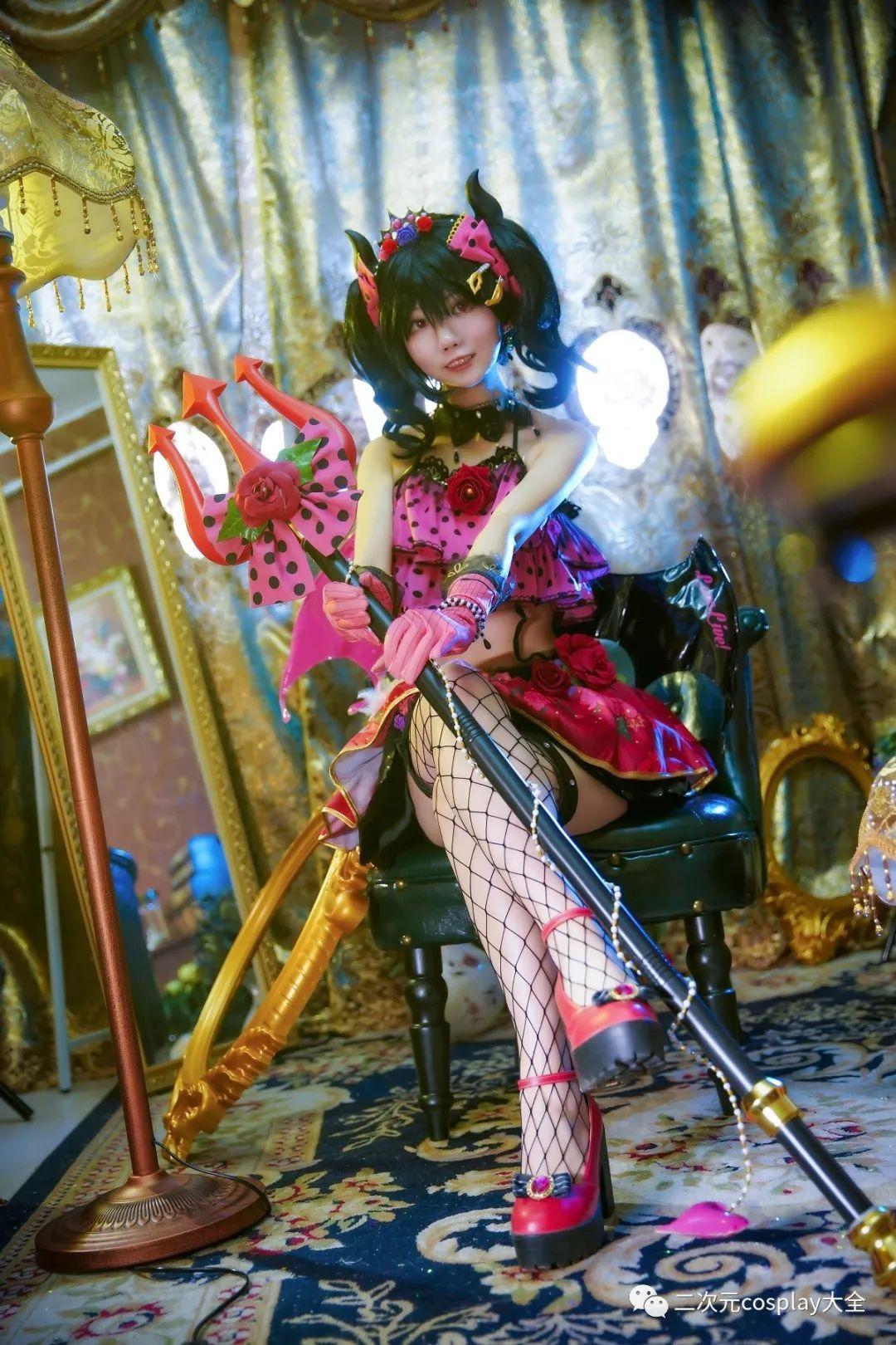 cosplay – 《lovelive!》小恶魔觉醒矢泽妮可,第一秒以为是可爱,然而被网格黑丝所吸引 - [leimu486.com] No.6