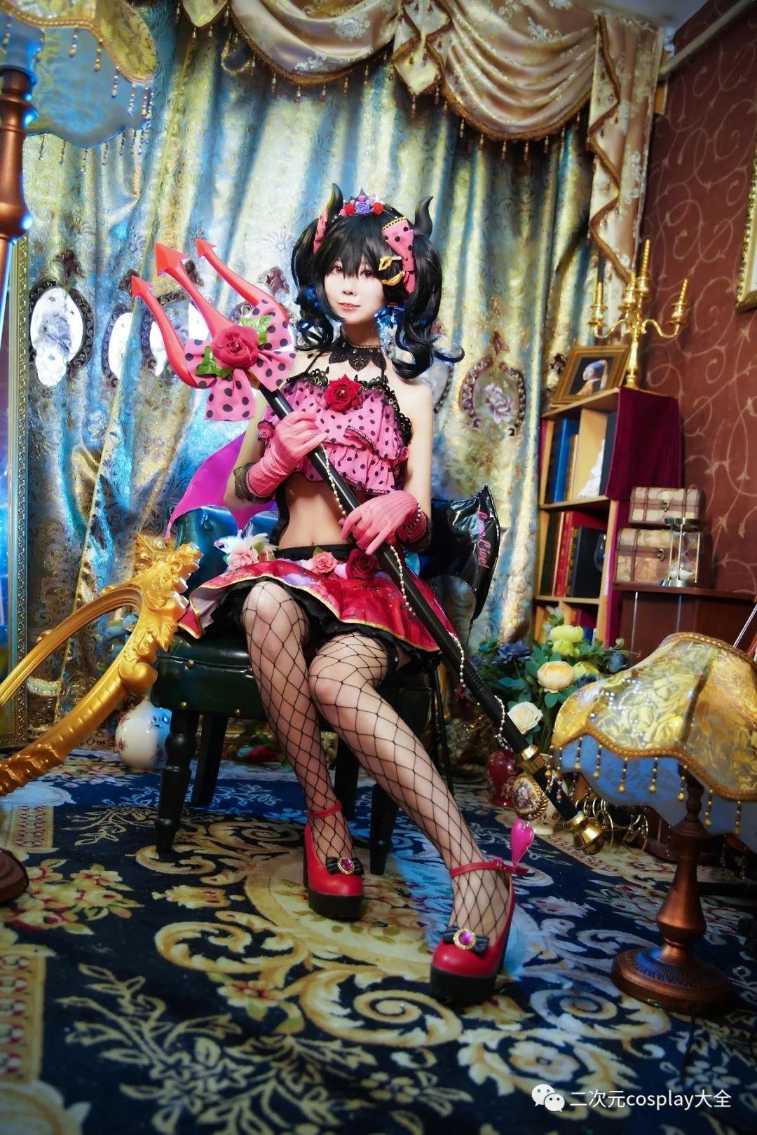 cosplay – 《lovelive!》小恶魔觉醒矢泽妮可,第一秒以为是可爱,然而被网格黑丝所吸引 - [leimu486.com] No.7