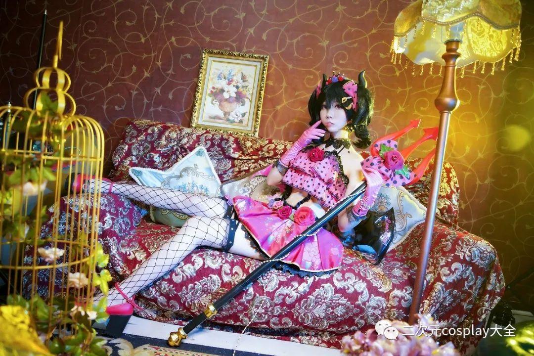 cosplay – 《lovelive!》小恶魔觉醒矢泽妮可,第一秒以为是可爱,然而被网格黑丝所吸引 - [leimu486.com] No.8